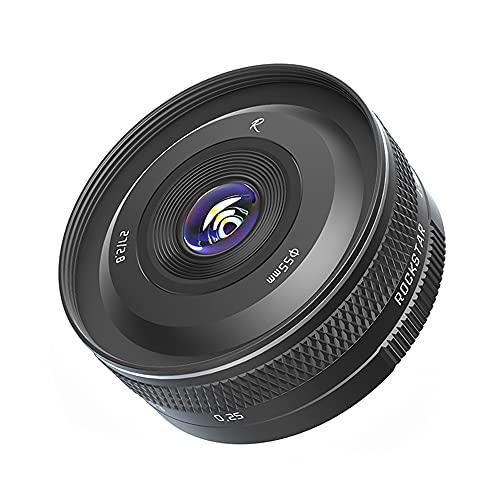 Rock Star 27mm f2.8 大口径APS-C固定焦点カメラレンズ ポートレートストリートビュー 撮影レンズ マイクロシングル E マウントA9 A7S A6600 A6500 A6300用レンズ