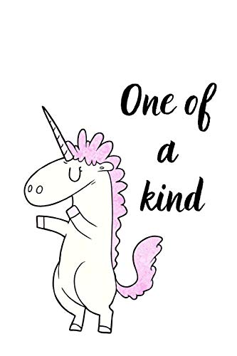 One of a kind: Unicorn Notebook/Journal/Diary (6 x 9) 120 Lined pages