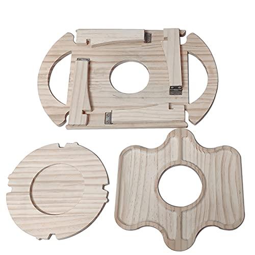 FeiyanfyQ Mesa de picnic plegable de madera al aire libre con estante de cristal, portátil 2 en 1 mesa plegable creativa para exteriores, jardín, camping, viajes, color de registro