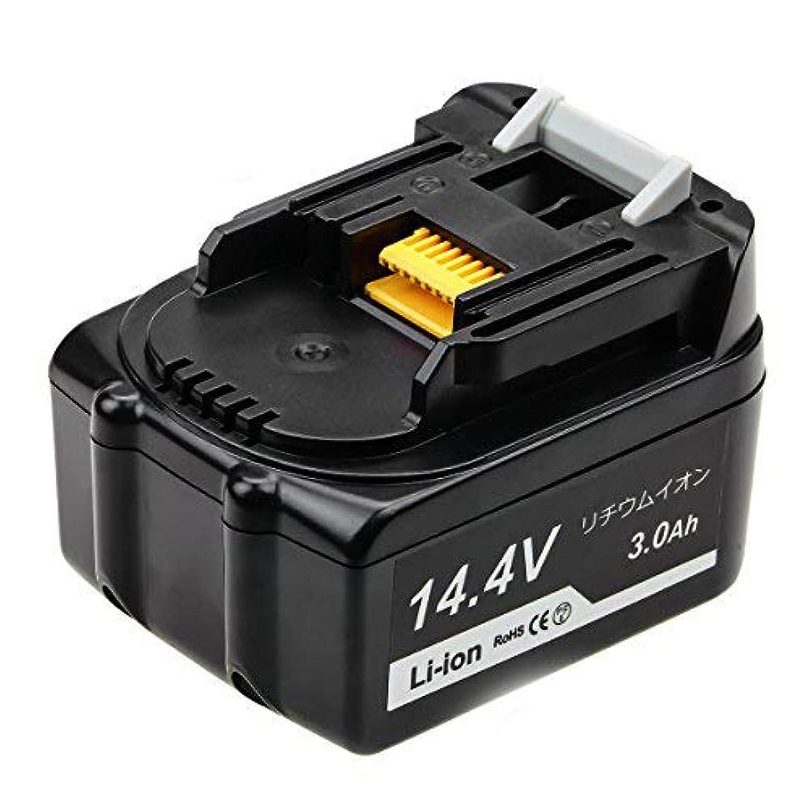 国旗富豪リーDosctt BL1430 マキタ 14.4v バッテリー 3.0Ah BL1430B対応互換品 電動工具用