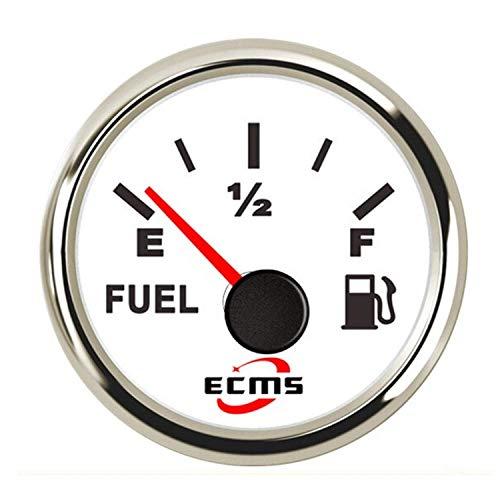 LILICEN 2 Pulgadas del Coche camión de Nivel de Combustible Medidor de Metro del indicador de 240-33ohm 52mm 12V 24V for el Coche del Carro del Barco