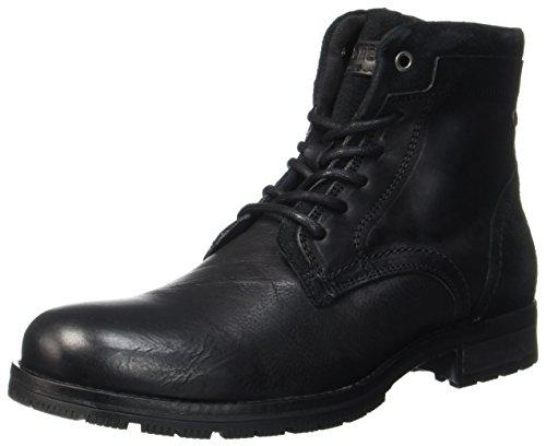 JACK & JONES Herren JFWHANIBAL Leather Klassische Stiefel, Schwarz (Black), 44 EU