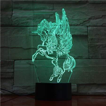 Lámpara de Color de Caballo de luz Nocturna para Luces de exhibición de decoración del hogar increíble Regalo de ilusión