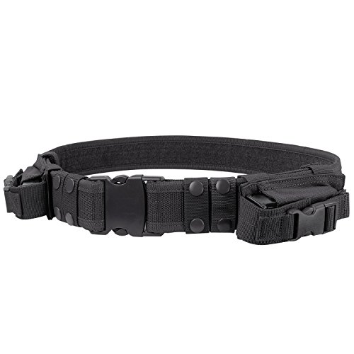Condor Tactical Belt (Black, Up to 44-Inch Waist)