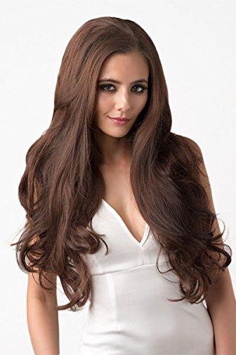 3/4 Half Wig Hairpiece Extension, Reddish-Brown, Long Loose Waves: Winnie 250g by Annabelles Wigs