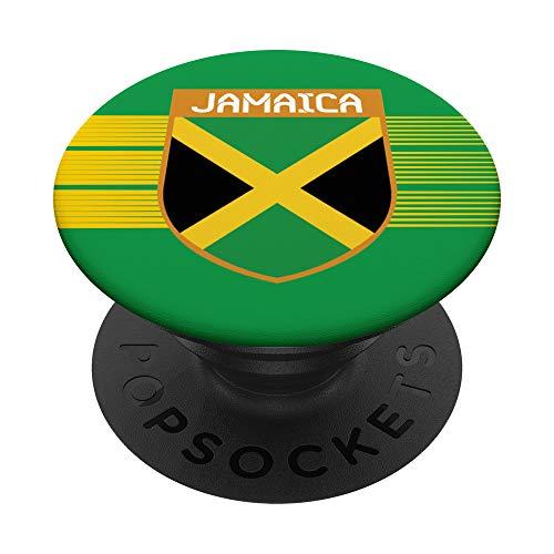 Jamaica Fußballtrikot 2021 Jamaican Fußball PopSockets PopGrip: Ausziehbarer Sockel und Griff für Handys/Tablets mit Tauschbarem Top