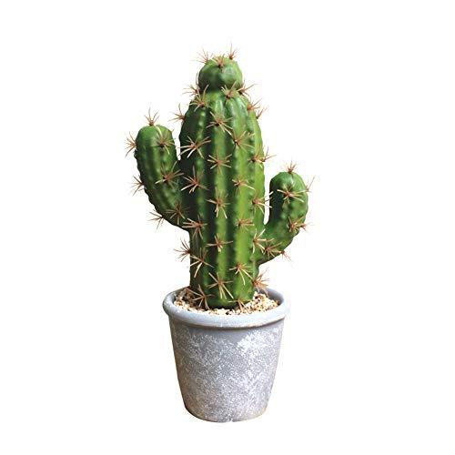 Homeofying - Cactus Artificiales de Cactus bonsái para decoración de Fiestas, Jardines y Fiestas, con Maceta