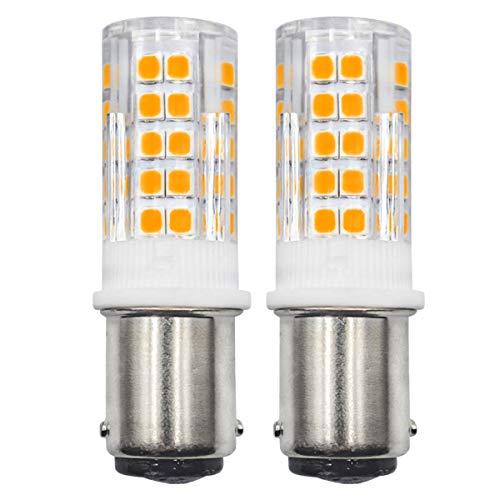 B15D 4W Pfaff Nähmaschine LED-Birne, ersetzt 40W Halogenbirne, 220V, Warmweiß 3000K, Nicht Dimmbar, hell für Heimbeleuchtung, 2er-Pack. [MEHRWEG]