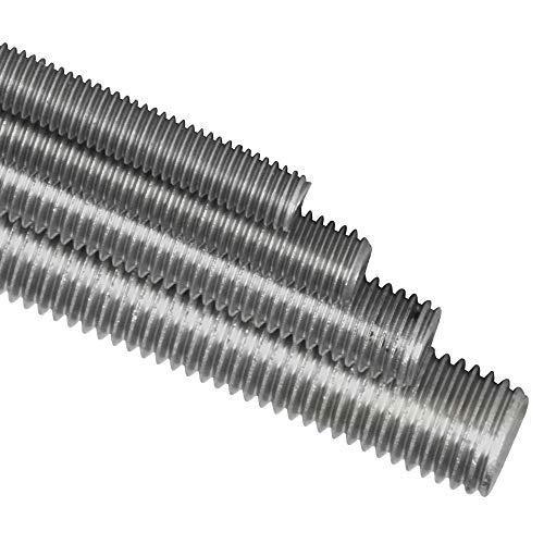 BiBa-Schrauben 1 Meter Gewindestange M5 1000 mm verzinkt 8.8 DIN 975 976 Gewindestift Gewindebolzen Stange