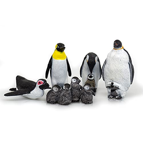 GUGELIVES Realistic Penguin Figurines  Plastic Polar Arctic Animal Figures Antarctic Set Ocean Sea Animal Model Figures  Educational Toy Cake Toppers  Birthday Gift for Kids Toddlers