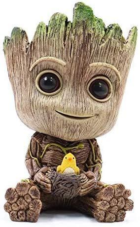 CXRen Figuren Groot Pflanzentöpfe Netter Baum-Mann-Baby-Aktion, Pflanzgefäße für Haushalt, Garten, Desktop, Dekoartikel und Kreativstift Halter und Souvenirs,A