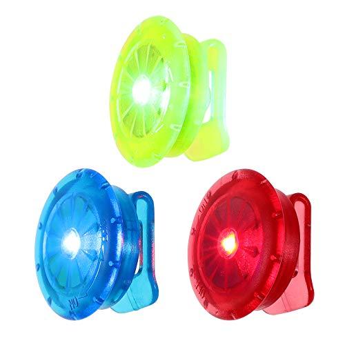 WINOMO Set di 6 luci di sicurezza a LED, per corsa, camminata, bicicletta, bambini, corridori, lampeggianti su piccoli set riflettenti, luce di notte