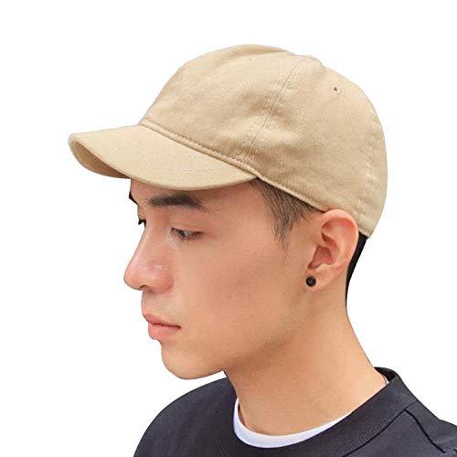 Clape Short Brim Hats for Men Plain Hiphop Dad Hat Cooling Trucker Hat Khaki