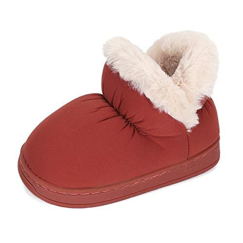 LACOFIA Botas de Invierno para niñas Zapatos de Nieve Antideslizantes de Goma para Invierno para niñas Rojo 26/27