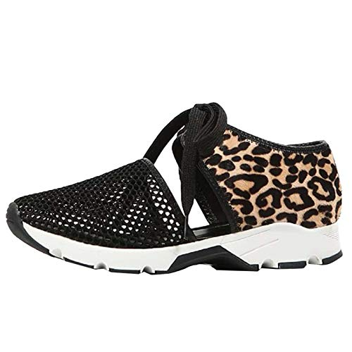 Aniywn Women's Lightweight Mesh Sport Running Shoes Leopard Print Comfortable Casual Sneakers Sports Gym Athletic Shoes