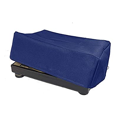Turntable Dust Cover for SL-1200 / SL-1210 & Pioneer PLX-1000 Record Player Protector Water Resistant, Antistatic, Blue Premium Fabric CYFC556