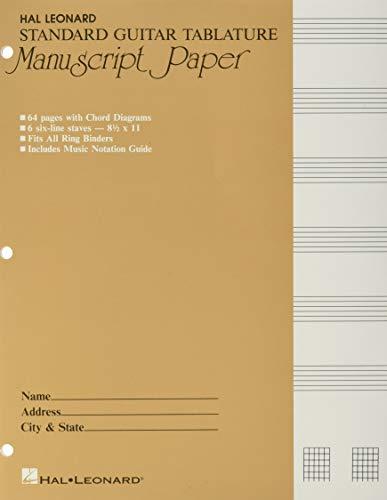 Guitar Tablature Manuscript Paper - Standard (PAPIER MUSIQUE)
