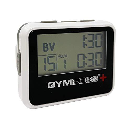 Gymboss Plus Intervall-Timer und Stoppuhr - WEIß/SCHWARZ Hochglanz