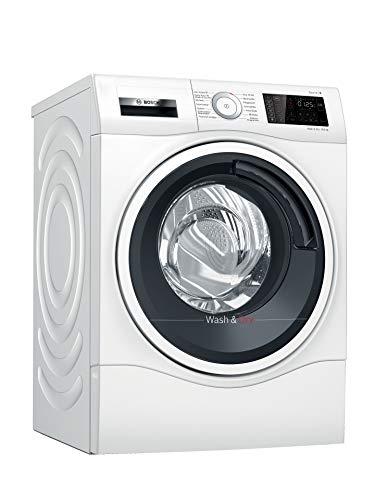 Bosch WDU28512 Serie 6 Waschtrockner / E / 364 kWh/100 Betriebszyklen (Waschen & Trocknen) / 10/6 kg / 1400 UpM / Weiß mit Glastür / AutoDry / IronAssist / NightWash