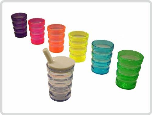 Tinkbecher Trinkhilfe Farbe: pink/auslaufsicher *Top-Qualität*
