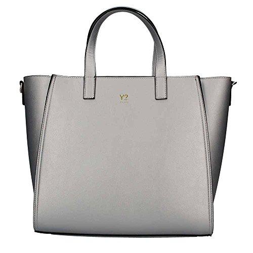 YNOT? BRE001 Shopping Bag Donna argento UNICA