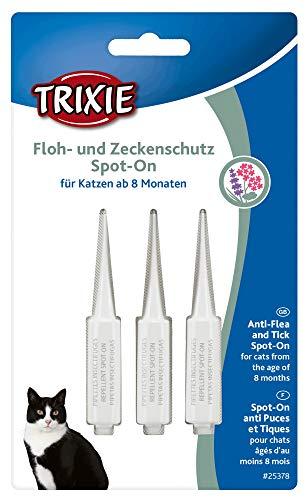 Trixie Floh- und Zeckenschutz Spot-On, Katze Katze über 8 Mon. - Sie erhalten 1 Packung/en; Packungsinhalt 3 ml