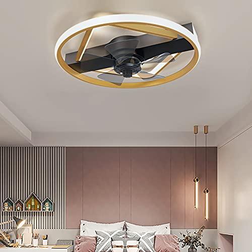 72W Ventilador De Techo Silencioso Regulable 3 Velocidades Ventilador Techo con Luz Y Mando A Distancia Ultradelgado Dormitorio Ventilador Techo con Luz Y Temporizador
