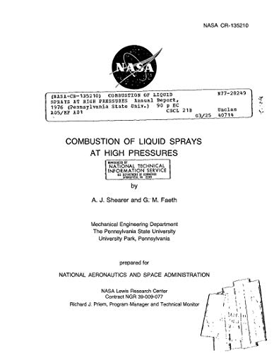 Combustion of liquid sprays at high pressures (English Edition)