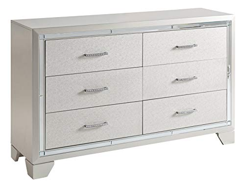 Signature Design By Ashley - Lonnix Dresser - Silver Finish