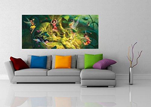 AG Design FTDh 0641 Fairies Disney Feen Wald, Papier Fototapete Kinderzimmer - 202x90 cm - 1 Teil, Papier, multicolor, 0,1 x 202 x 90 cm