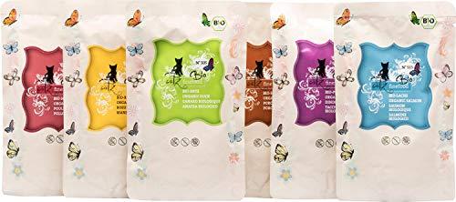 catz finefood Bio Katzenfutter MIX Paket - 6 x 85 g - Nassfutter für Katzen - N° 513, 511, 509, 507, 505 & 503 - Ohne Getreide & zugesetzten Zucker (1,02 kg)