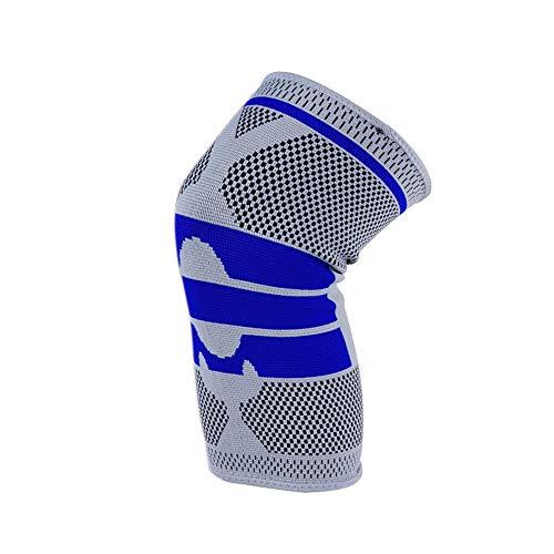 Sports Knee Pads Skating Kneepad Adult Breathable Adjustable Aramid Fiber Motocross Mountain Biking Cycling Skateboard Knee Guards (Color : Black, Size : XL)