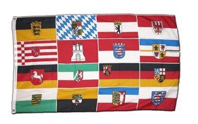 Flagge Deutschland 16 Bundesländer - 60 x 90 cm