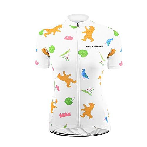 Uglyfrog Mountain Bike Jersey Women's Cycling Jersey for Women Biking Shirt Tops, Short Sleeve, Breathable, Comfortable, Quick Dry