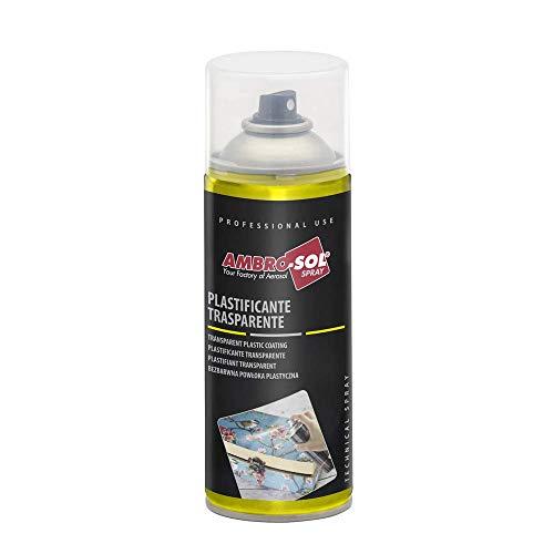 Ambro-Sol - I270 Plastificante, Pellicola Spray Plastificante per Proteggere Metalli come Rame, Alluminio, anche Materiali come Carta, Legno e Plastica, Non Ingiallisce, Bomboletta Riciclabile 400 ml