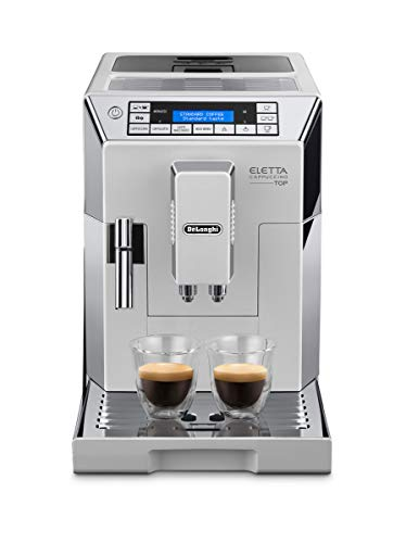 De'Longhi Eletta Cappuccino, Fully Automatic Bean to Cup Machine, Espresso, Coffee Maker, ECAM 45.760.W, White