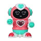wojonifuiliy Elektro Rock Roboter für Jungen und Mädchen, Intelligenter Dancing Roboter Kinder mit Licht und Musik, Roboter Spielzeug ab 3 Jahre (D)