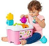 Juguete Sensorial para bebés Play&Sense Molto con Bolas y Figuras sensoriales multitextura encajables Unas con Otras, Libres de BFA. Figuras blanditas (Caja 5 Piezas Rosa)
