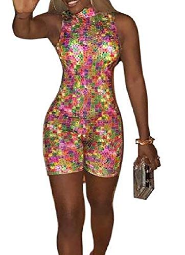 YYear Womens Sexy Club Hot Drill Sleeveless Bodycon Jumpsuit Romper 1 US M