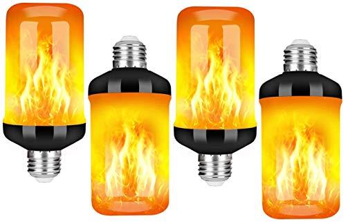 StillCool Flammen Glühbirne, E27 Lampe Flackernde Licht Effekt 5W LED Außenleuchte Flackerlicht für Haus Garten Bar Party Hochzeit Restaurant Valentinstag Deko (4 Packung)