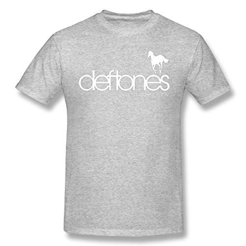 Hohomark Deftones White Pony T-Shirt Homme décontracté à imprimé créatif Ras du Cou Confortable à Manches Courtes