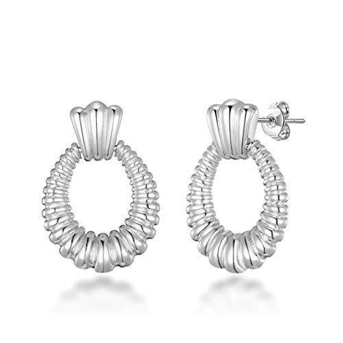 Silver Door Knocker Earrings