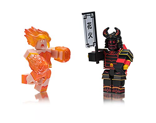 Roblox ROG0121 Celebrity Collection Heroes of Robloxia: Ember & Midnight Shogun Game Pack