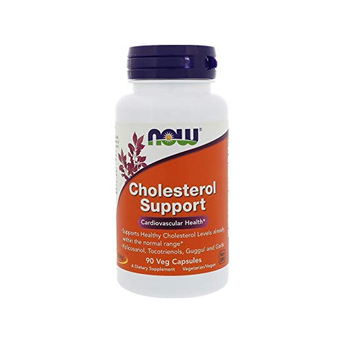 NOW Supplements, Cholesterol Support, Featuring Policosanol, Tocotrienols, Guggul and Garlic, 90 Veg Capsules