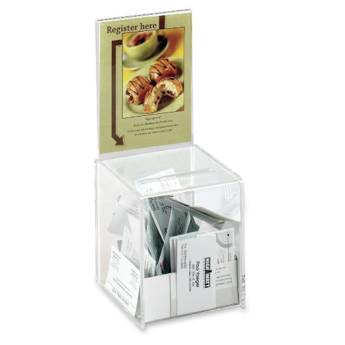 Safco Products 4235CL Small Acrylic Collection Box, Clear