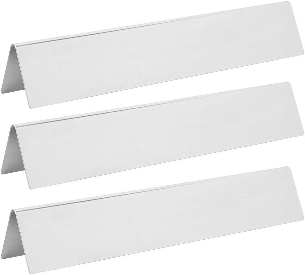 Yosoo 3pcs Stainless Steel Gas Grill Burners Shield 4 years warranty Popular brand in the world Plate Heat C