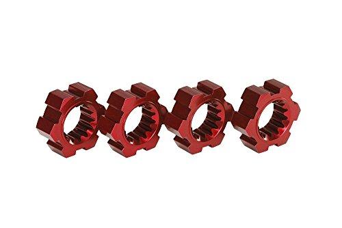 Traxxas 7756r Red-Anodized Aluminium moyeux de Roue (Lot de 4)