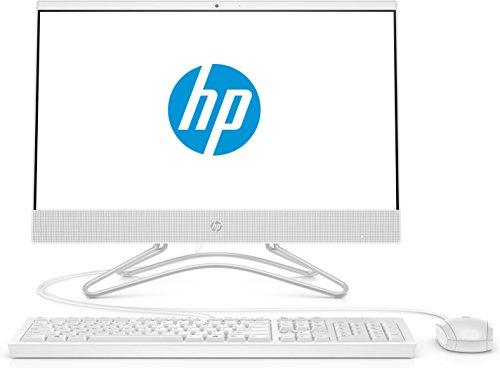 HP 22-c0044ns Ordinateur Tout-en-Un 21,5' FHD (APU AMD Dual-Core A4-9125, 4 Go de RAM, 256 Go SSD, AMD Radeon R5) Blanc Neige
