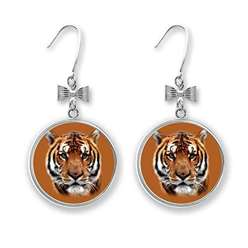 Ohrstecker, Tiger-Design, gestreift, Fleisch, Art-Deco-Geschenk, modische Schleife