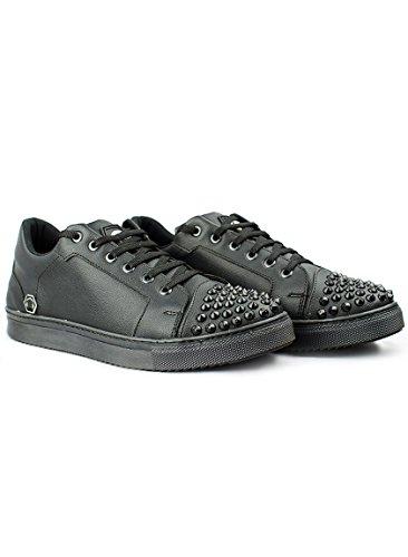 DJ White Mixer Studs Low-Top Sneaker Black (43)